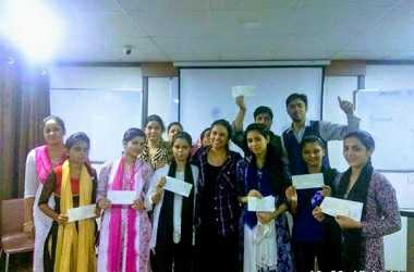 An Interactive Session Was Organised by Pallavi Gahlaut, Administrator of the Foundation, on 13th September in New Delhi for Children and Their Families and Cheques Were Handed over for the Current Academic Year
