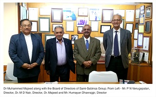 Dr. Muhammed Majeed along with the Board of Directors of Sami-Sabinsa Group