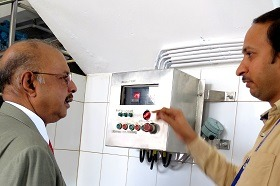 Agitated Nutsche Filter & Drier (ANFD) inaugurated by Dr. Majeed at Sami Labs Corporate R&D office
